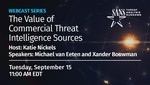 The value of commercial threat intelligence sources